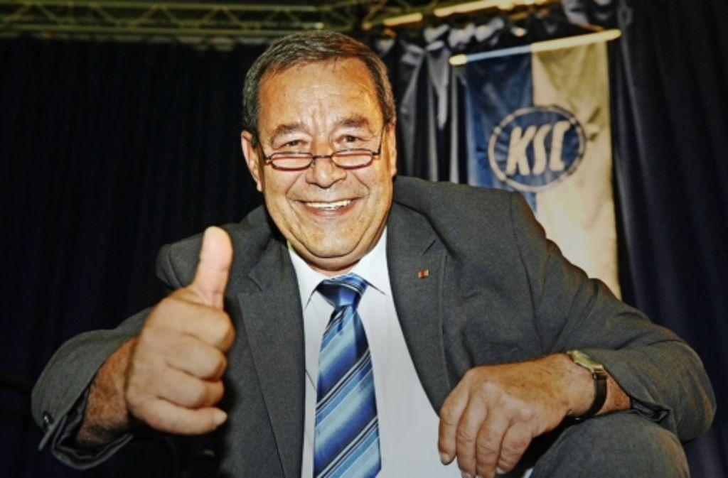 Ex-OB Paul Metzger  – einst auch kurzzeitig KSC-Präsident – soll den Kurswechsel befürwortet haben. Foto: dpa