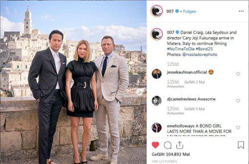 Daniel Craig dreht in Matera