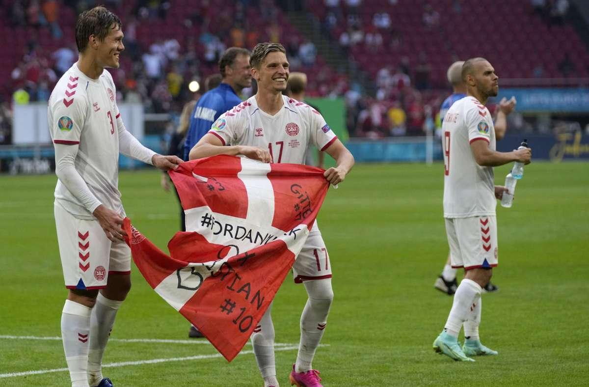 Dänemark trifft im Viertelfinale der EM 2021 auf Tschechien. Foto: dpa/Peter Dejong