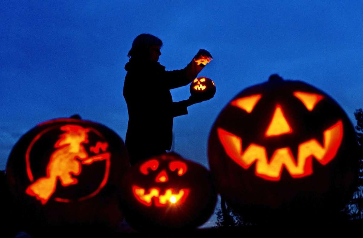 Leuchtendes Gruseln: am Samstag ist Halloween. Foto: dpa/Patrick Pleul