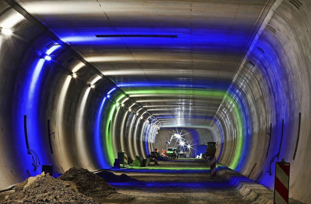 Die Bauarbeiten am Rosensteintunnel gehen nicht so schnell vonstatten wie geplant. Foto: Stadt