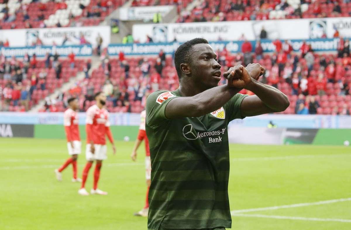 Silas Katompa Mvumpa vom VfB Stuttgart spielte jahrelang unter falschem Namen. Foto: Pressefoto Baumann