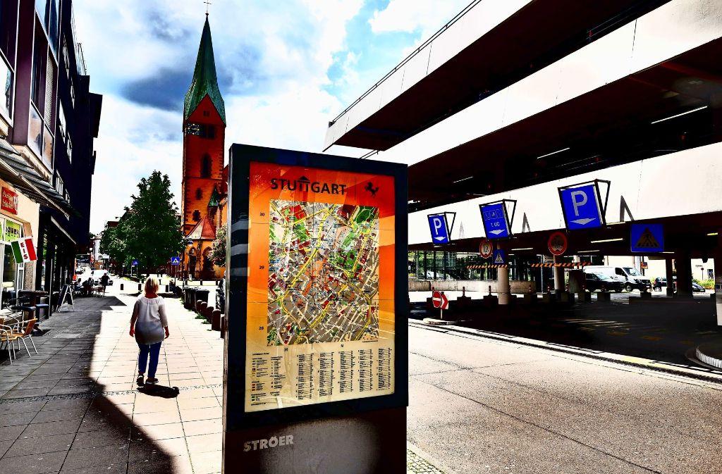 Für die Initiative ist das Züblin-Parkhaus ein Keil, der das Quartier trennt. Foto: Lg/Piechowski