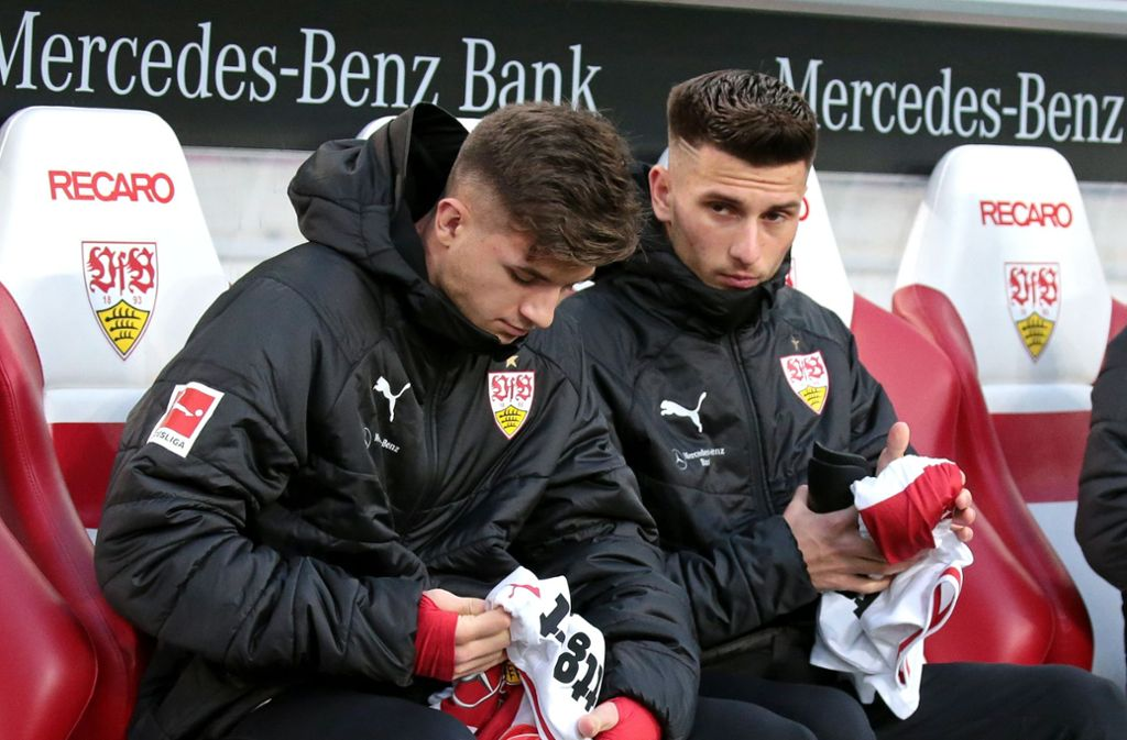 17 Jahre jung und talentiert: Antonis Aidonis (links) und Leon Dajaku Foto: Baumann