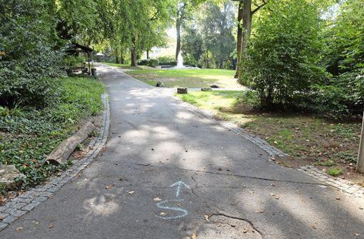 Die Kurparkwege werden saniert