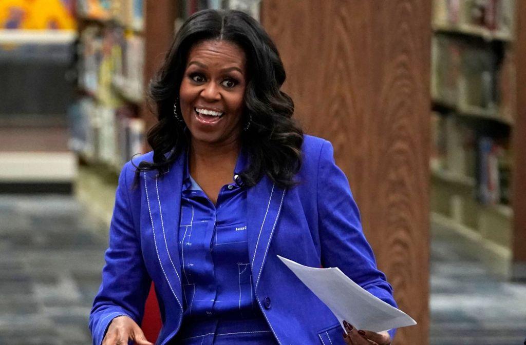"""Michelle Obama kann sich freuen: Ihr Buch """"Becoming"""" springt auf Platz 1. Foto: AFP"""