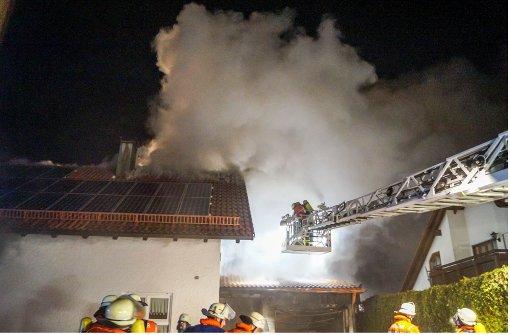 Hausbrand beim  Kripochef