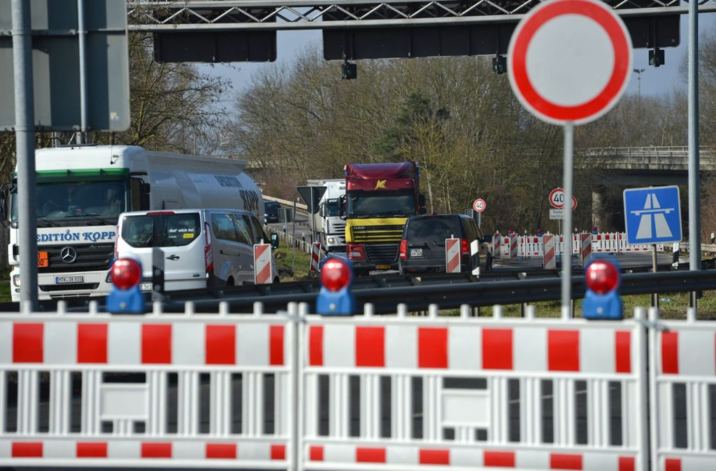 Auch in Aich müssen sich die Autofahrer auf dieses Schild einstellen Foto: dpa