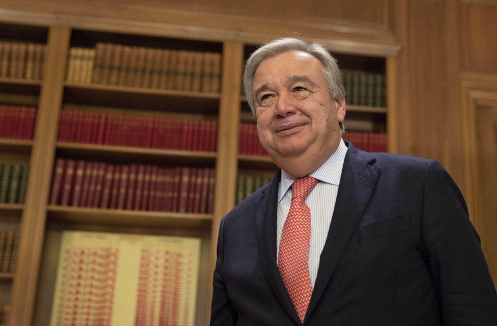 Der frühere Chef des UN-Flüchtlingshilfswerks und ehemalige portugiesische Ministerpräsident António Guterres Foto: AP