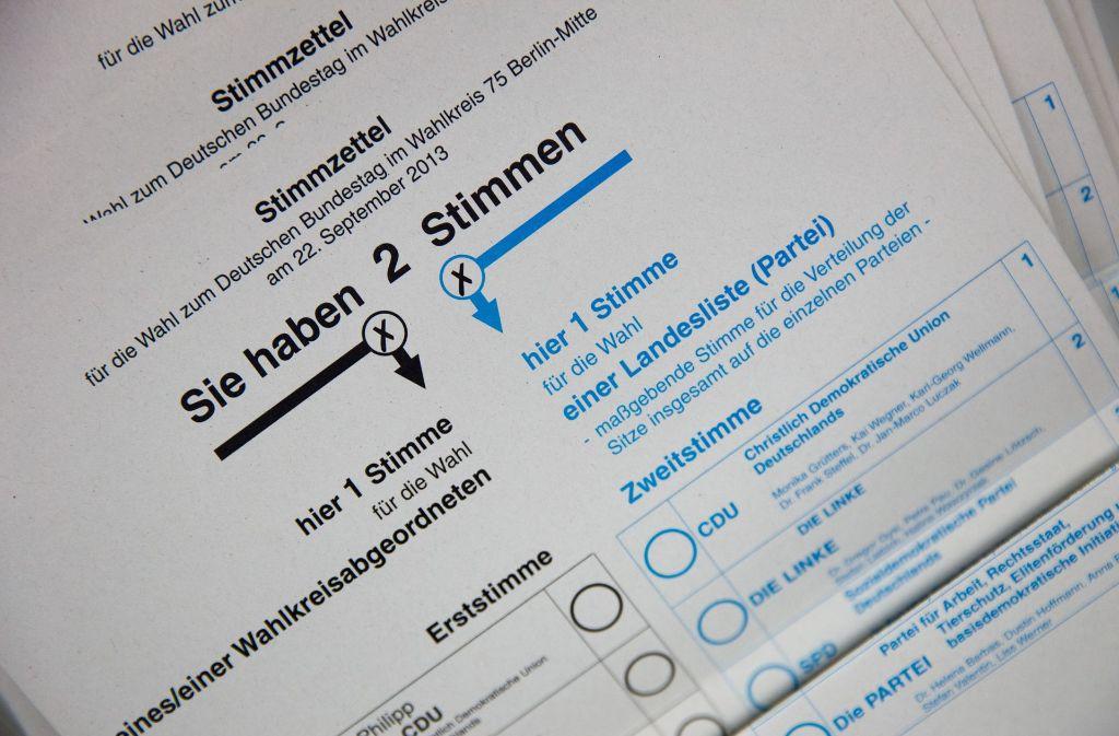 Wie war das noch einmal mit der Erst- und der Zweitstimme? Wir beantworten die wichtigsten Fragen zur Bundestagswahl. Foto: dpa