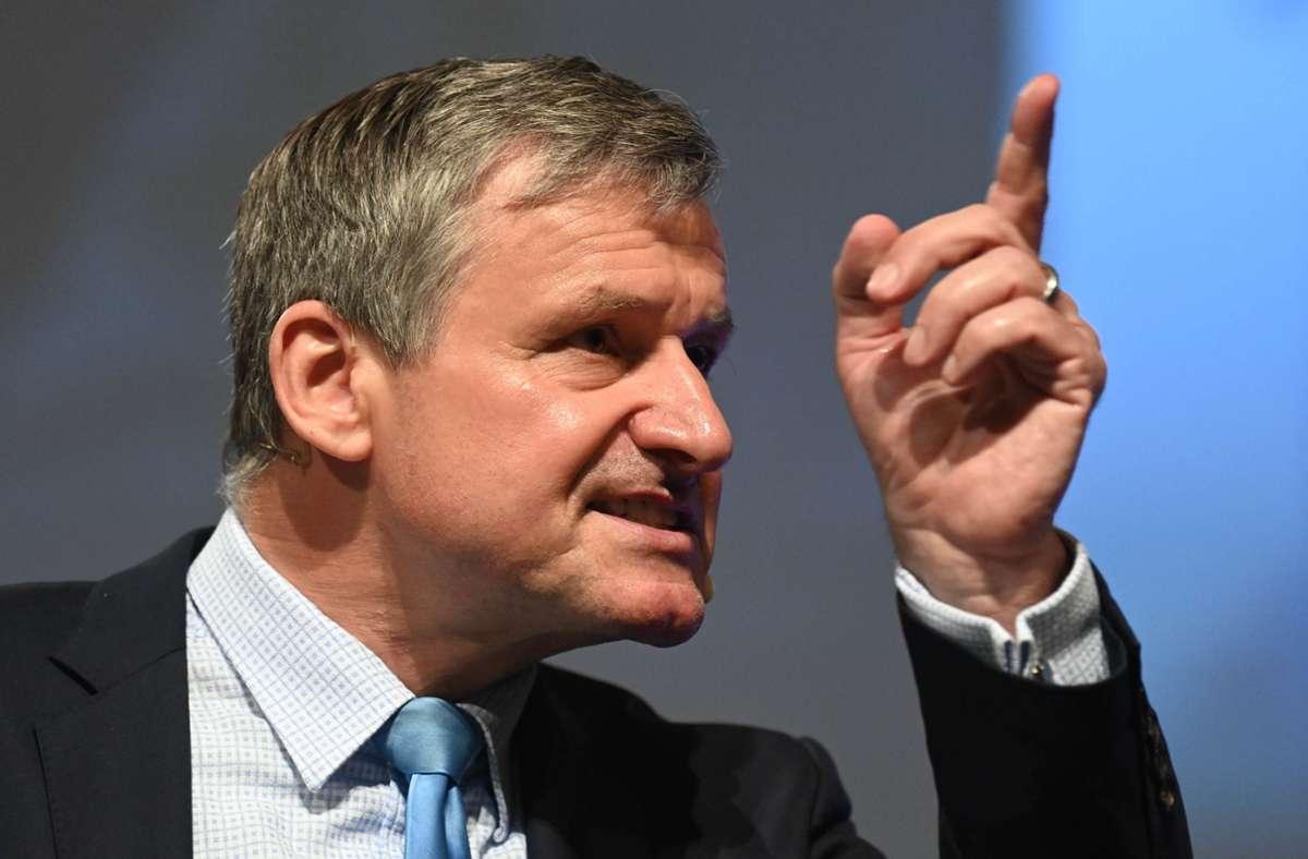 Spitzenkandidat: Die FDP setzt im Landtagswahlkampf auf ihren Fraktionschef Hans-Ulrich Rülke. Unsere Bilderstrecke zeigt die Spitzenkandidaten weiterer Parteien. Foto: dpa/Uli Deck
