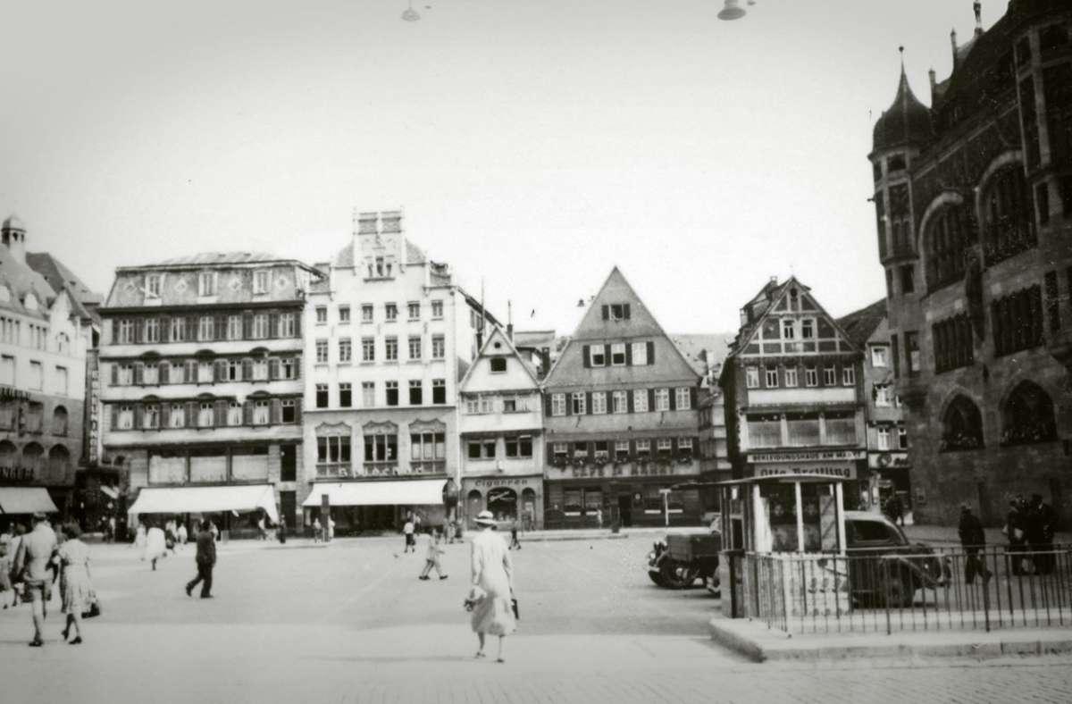 So sah der Stuttgart Marktplatz im Kriegsjahr 1942 aus. Foto: Stadtarchiv Stuttgart