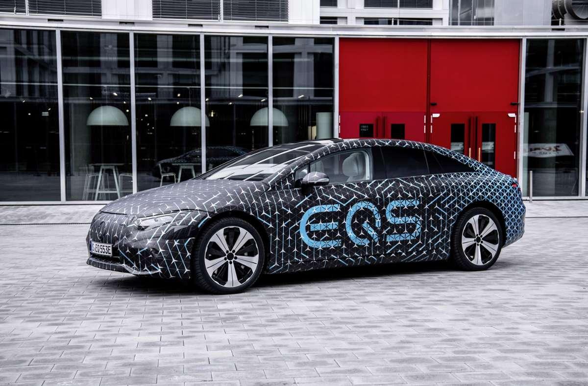 Die futuristisch anmutende Elektro-S-Klasse mit dem Namen EQS soll den Aufbruch in ein neues Zeitalter verkörpern. Foto: dpa/---