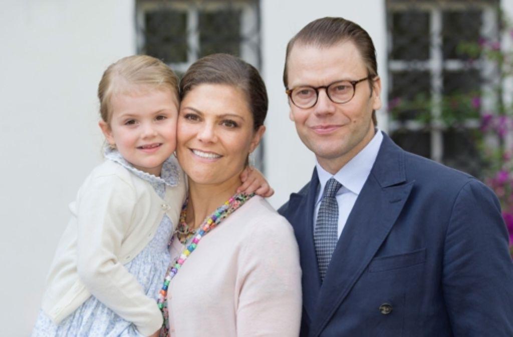Die schwedische Kronprinzessin Victoria und ihr Mann, Prinz Daniel, haben bereits eine Tochter, Prinzessin Estelle. Nun hat Victoria einen Sohn zur Welt gebracht. Foto: Dutch Photo Press