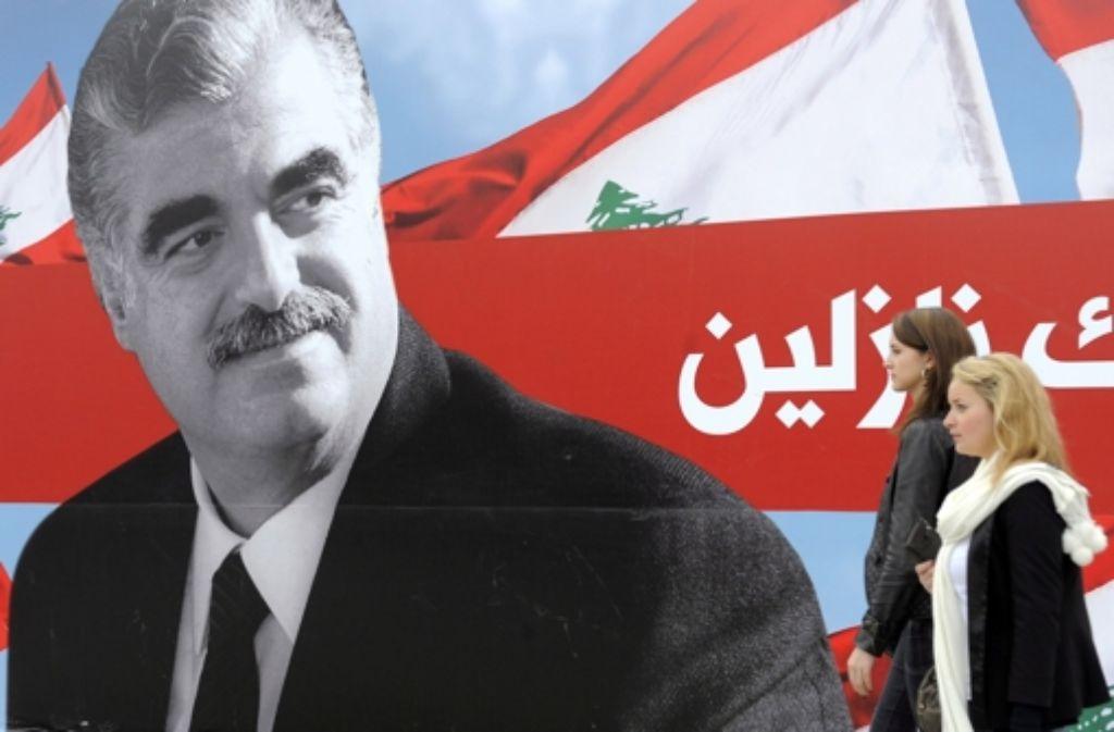 Rafik Hariri ist vor neun Jahren einem Anschlag zum Opfer gefallen. Foto: EPA FILE
