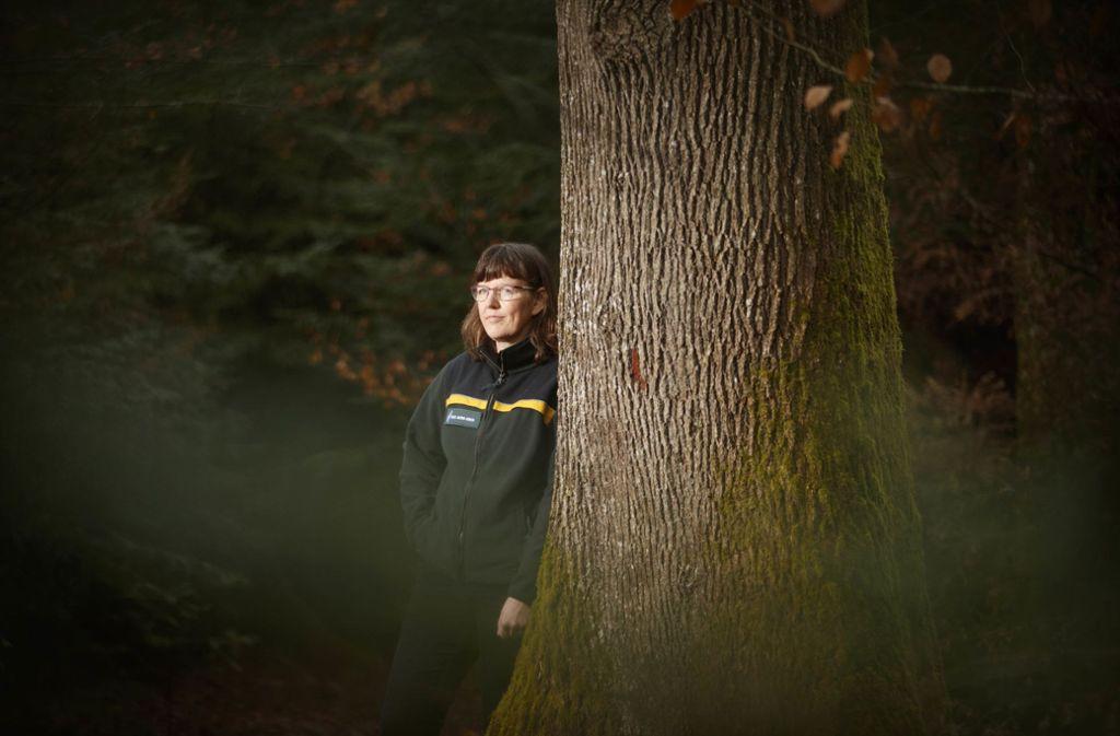 Dagmar Wolfes liebt den heimischen Wald – beruflich wie privat. Foto: Gottfried Stoppel
