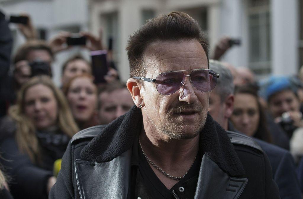 """Bono, der bürgerlich Paul David Hewson heißt, ist an einem litauischen Einkaufszentrum beteiligt, das in den """"Paradise Papers"""" auftaucht. Foto: AFP"""