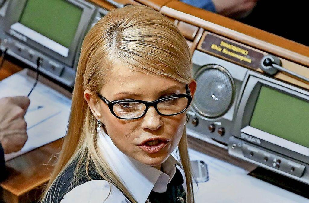 Sie will nicht aufgeben: Julia Timoschenko. Foto: EPA