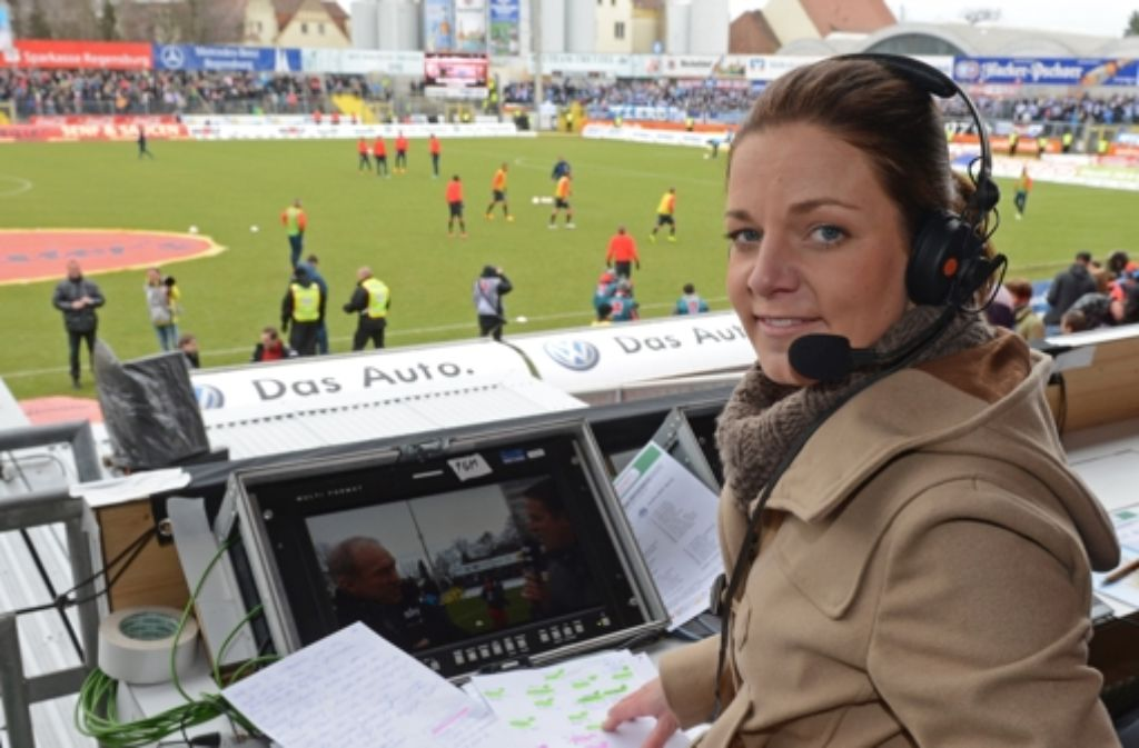 Kompetent: Fußballexpertin Christina Graf Foto: dpa