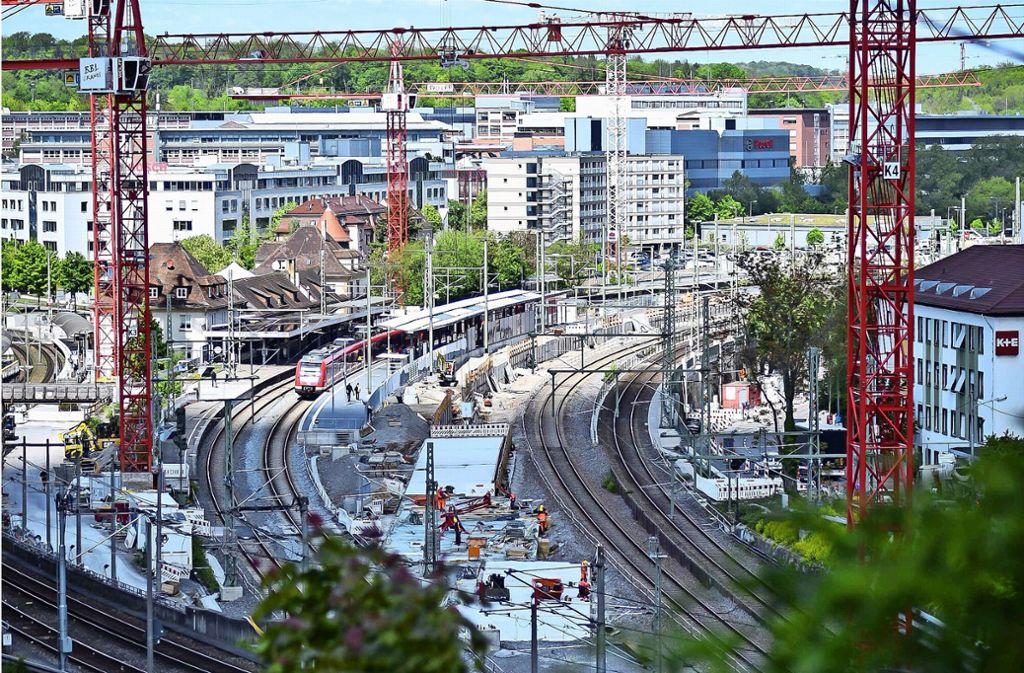 Tunnelbau in Feuerbach Foto: