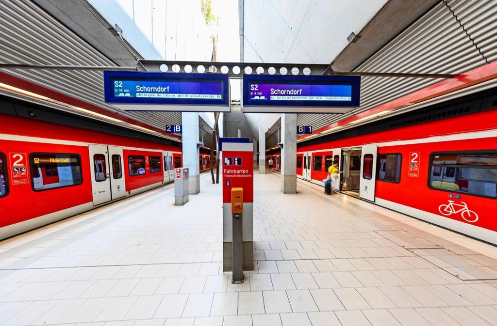 2026 soll die erste S-Bahn auf der Verlängerungsstrecke nach Neuhausen fahren. Foto: /Archiv Thomas Krämer