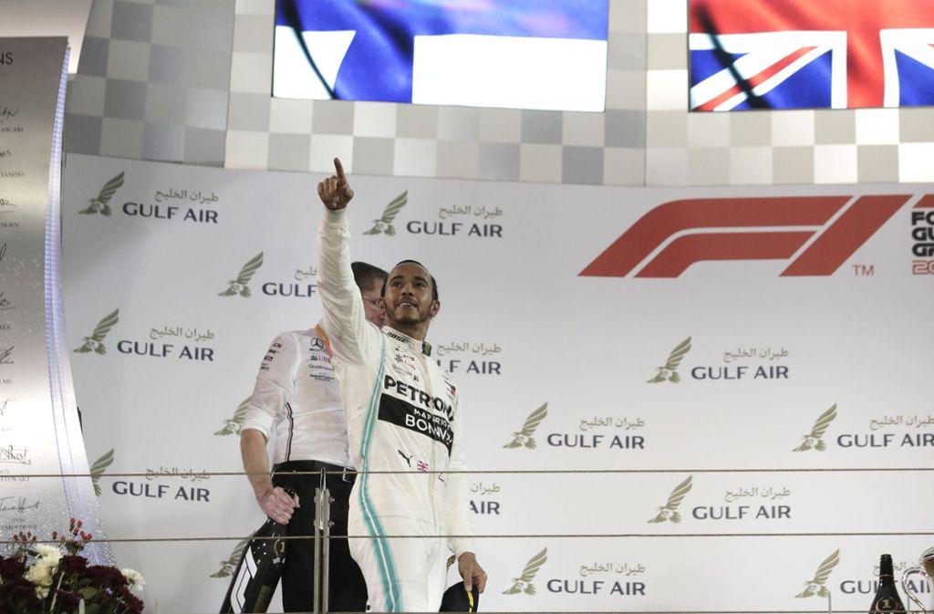 Lewis Hamilton ging als strahlender Sieger aus dem Renntag hervor. Foto: Getty Images Europe