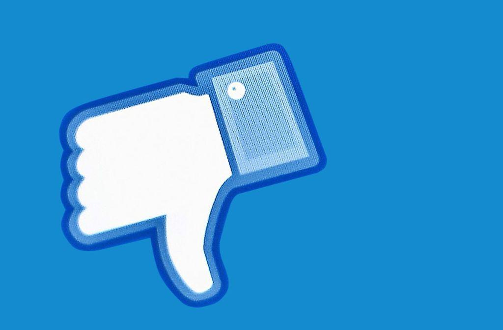 Daumen runter: Facebook hat vom Bundeskartellamt einen klaren Rüffel bekommen. Foto: dpa