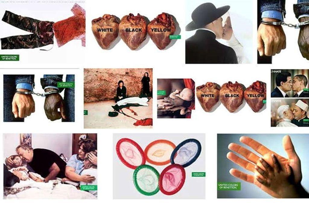 Benetton sorgte in den Neunziger Jahren für Aufsehen mit Werbeplakaten, die brisante, aktuelle Themen aufgriffen. Foto: Benetton