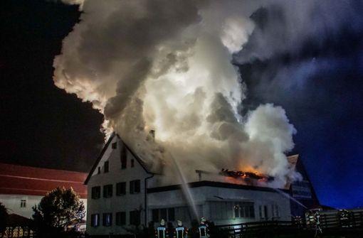 Feuerwehrchef berichtet über die Brandnacht