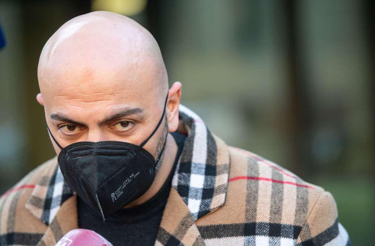 Der Rapper Xatar aus Bonn hat als Zeuge im Goldraub-Prozess ausgesagt. Foto: dpa/Sebastian Gollnow