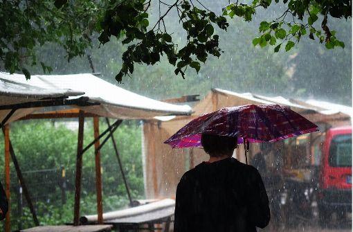 Regenjacke statt Badehandtuch