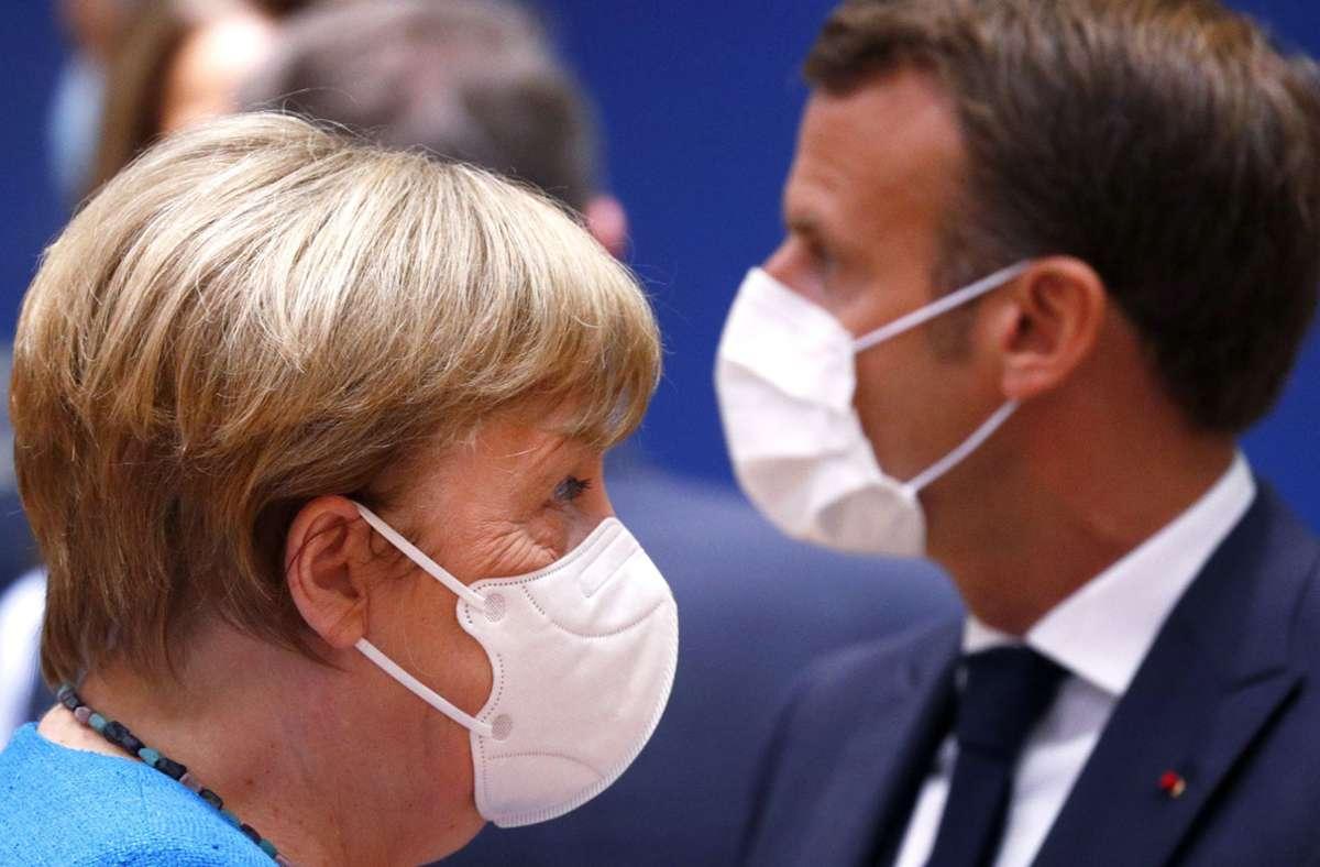 Angela Merkel drängt auf eine Einigung in der Frage um die EU-Hilfen in der Corona-Krise. Foto: dpa/Francois Lenoir