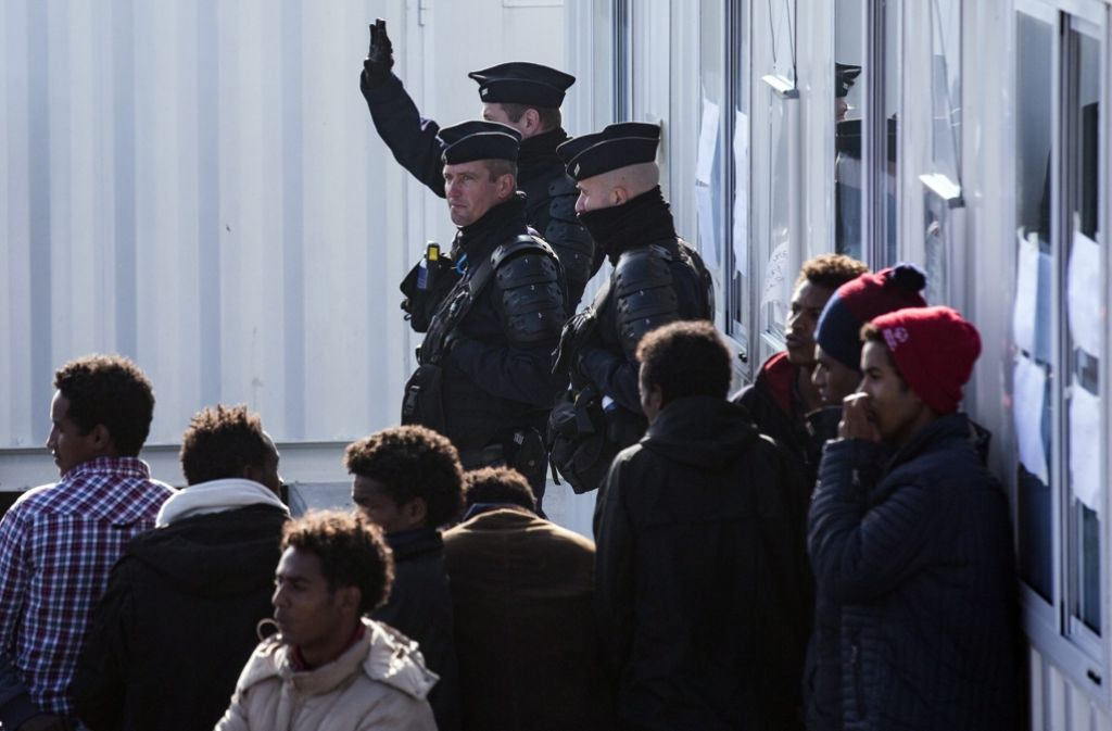 Das Lager von Calais soll am Montag geräumt werden. Foto: EPA