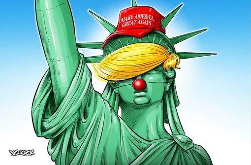 Die besten Trump-Karikaturen im Internet