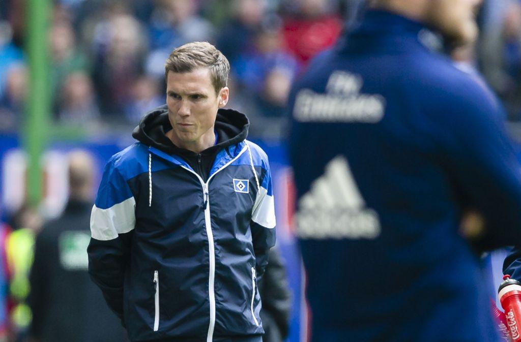 Wie lange wird Hannes Wolf noch Trainer des HSV bleiben? Foto: dpa