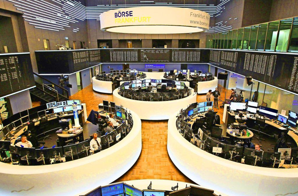 Die Börse in Frankfurt Foto: AFP/Daniel Roland