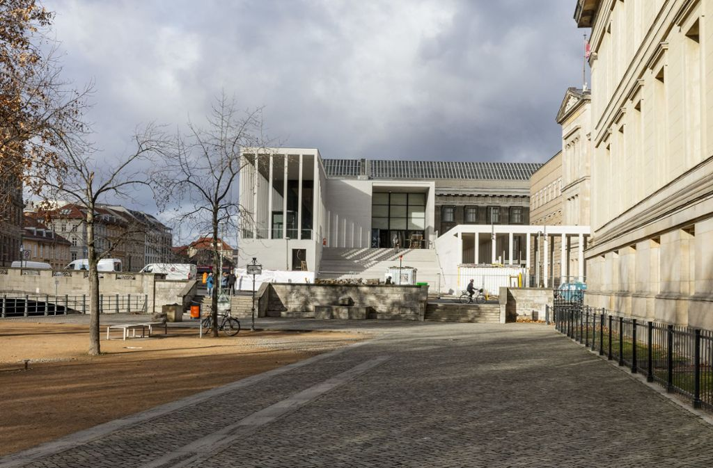 Die neue Berliner Museen-Empfangsgalerie Foto: Ute Zscharnt for David Chipperfield Architects