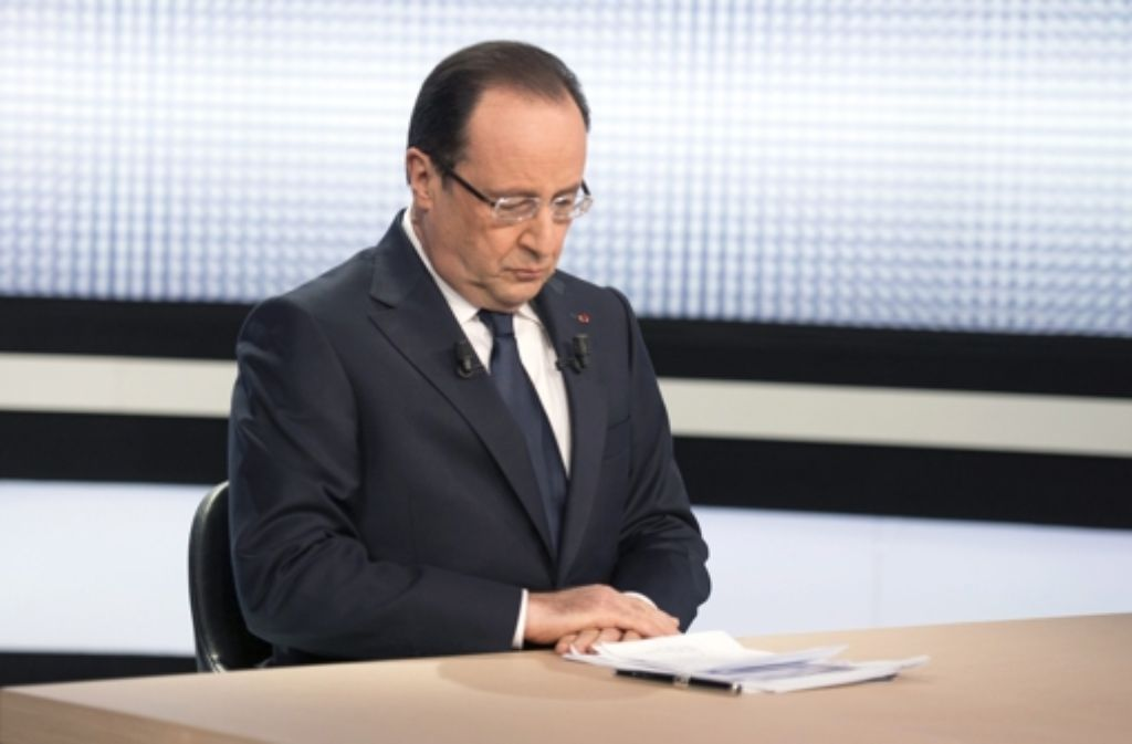 Frankreichs Präsident überzeugt seine Landsleute nicht mehr. Foto: dpa