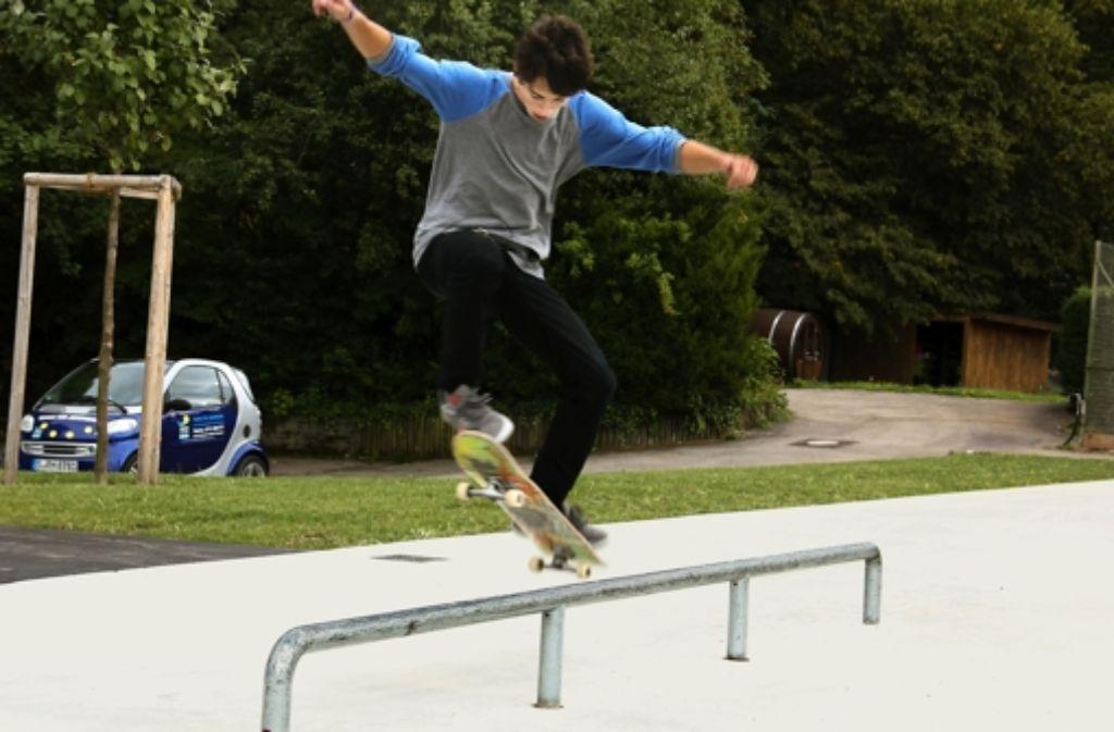 Skater können sich auf der neuen Anlage an der Beethovenstraße austoben. Foto:
