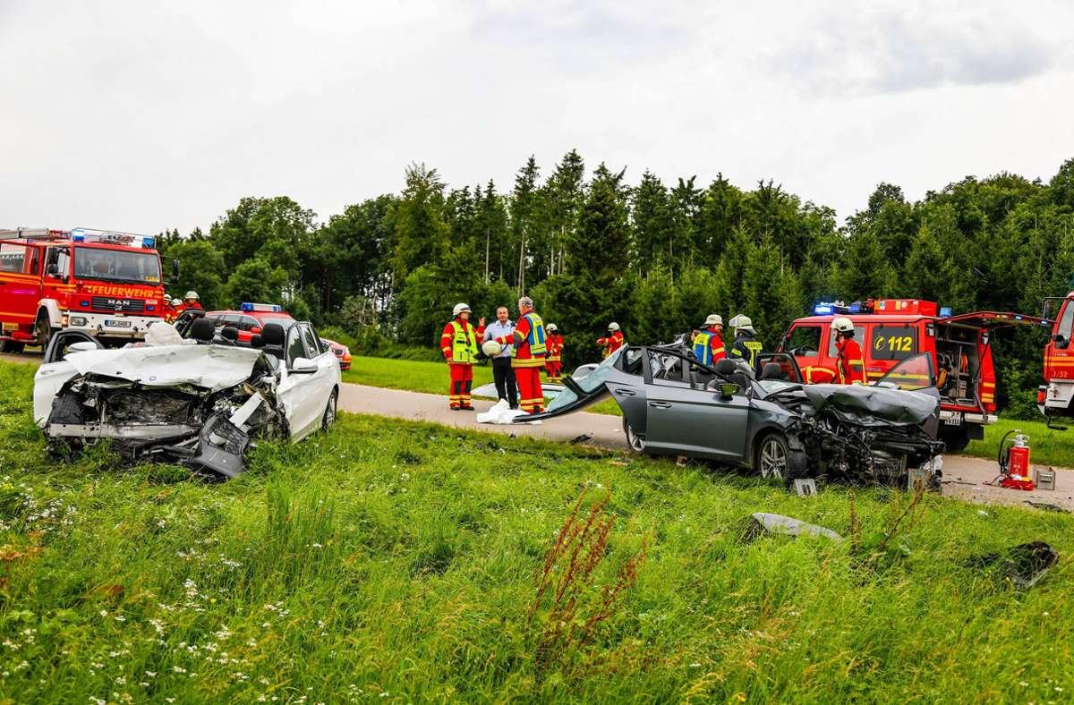 Ein 23-Jähriger war am Dienstagabend mit seinem Auto   in den Gegenverkehr geraten. Foto: 7aktuell.de/Christina Zambito