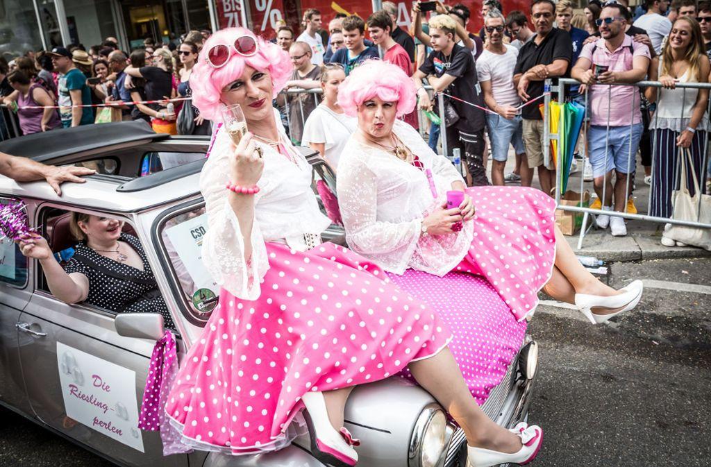 Stuttgarter CSD-Parade im Jahr 2018 Foto: Lichtgut