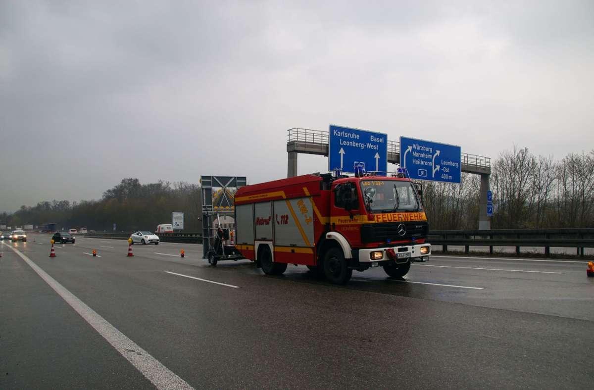 Der Unfall ereignete sich auf der A8/A81 bei Leonberg. Foto: SDMG/SDMG / Dettenmeyer
