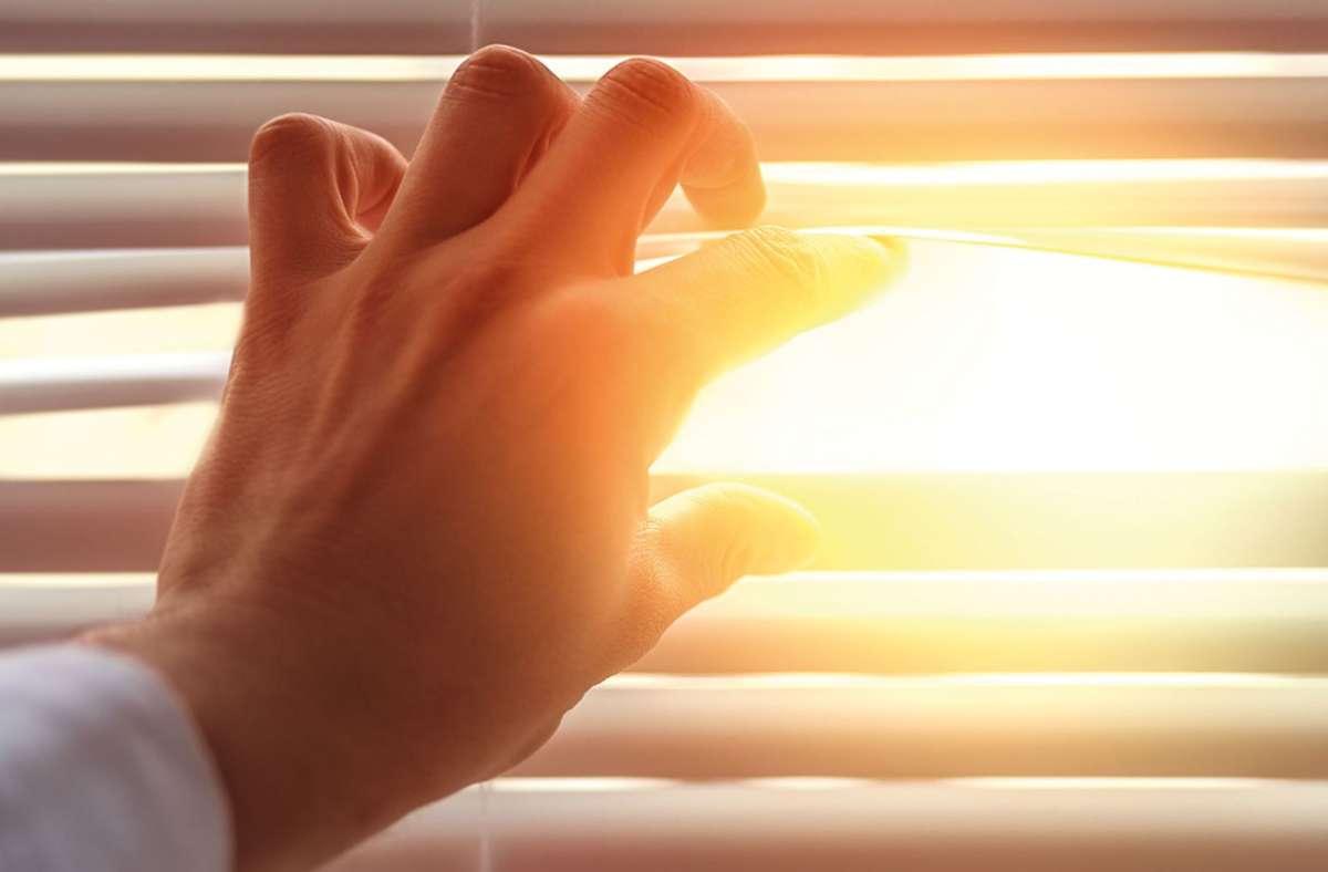 Rollladen runter: Arbeitnehmer bekommen zunehmend Probleme mit Sonnenlicht und Hitze. Foto: djd/IWO/detailblick-foto - stock.adobe.com