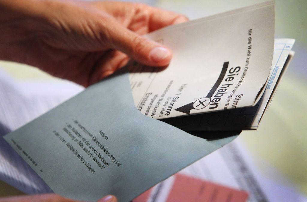 Laut der Deutschen Post sind ein Viertel der Wähler bereits Briefwähler. Foto: dpa (Symbolbild)