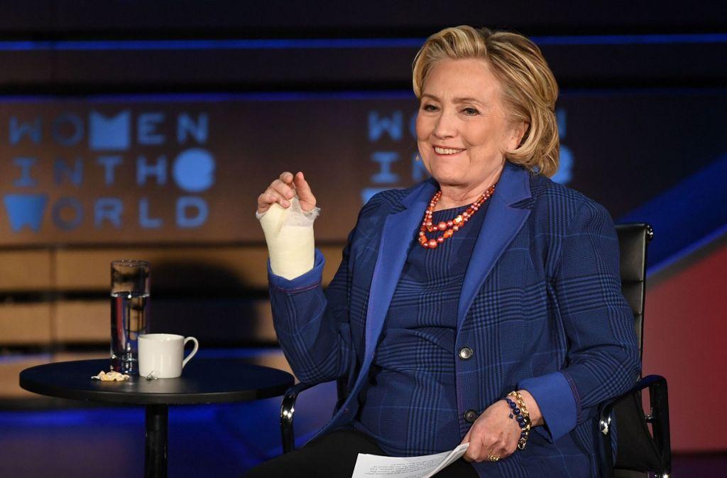 Hillary Clinton  postete einen  angeblichen Kennedy-Brief. Foto: AFP/ANGELA WEISS