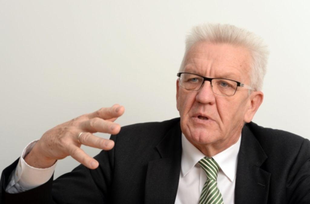 Hat sich kritisch zur Linkspartei geäßert: Südwest-Ministerpräsident Winfried Kretschmann. Foto: dpa