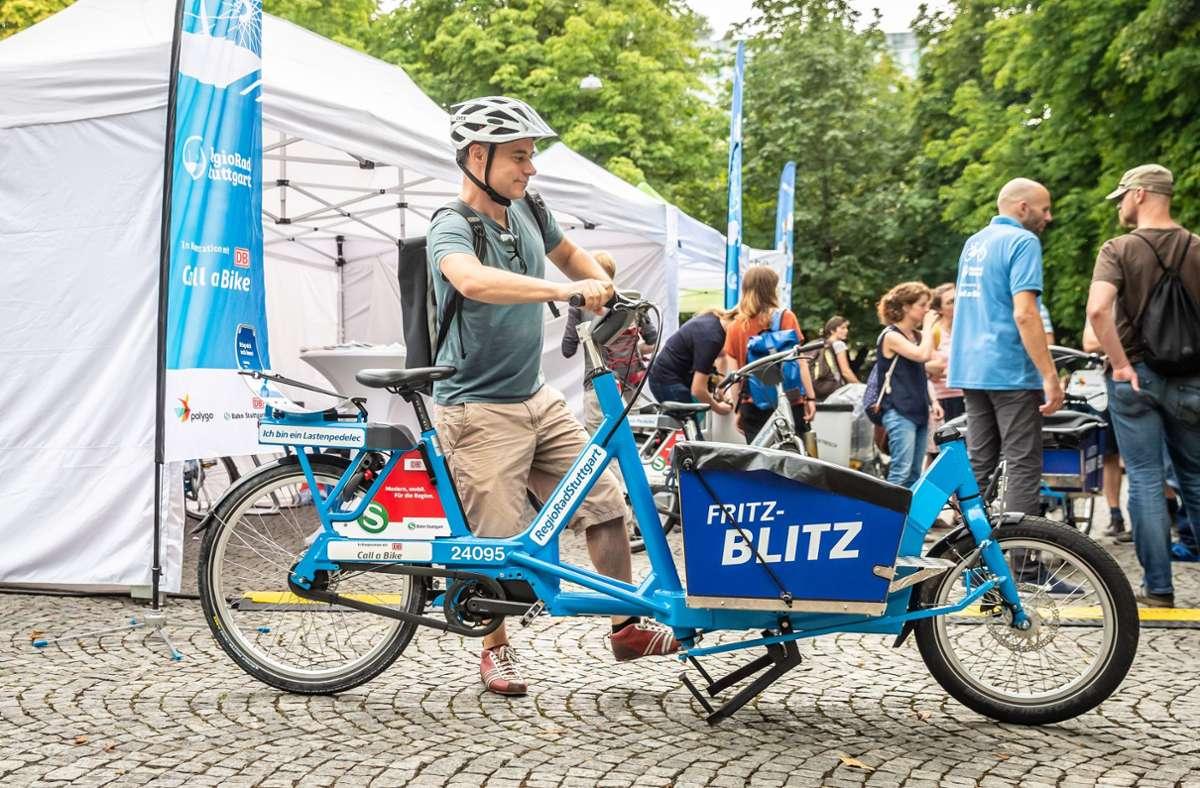 Lastenräder sind auf dem Vormarsch und können am Sonntag zwischen 14 und 18 Uhr begutachtet werden Foto: Lichtgut/Julian Rettig