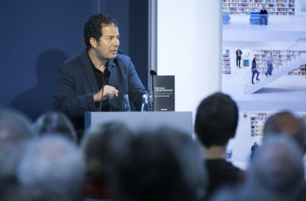 Hamed Abdel-Samad dekonstruiert den Islam in der Stadtbibliothek. Foto: Horst Rudel