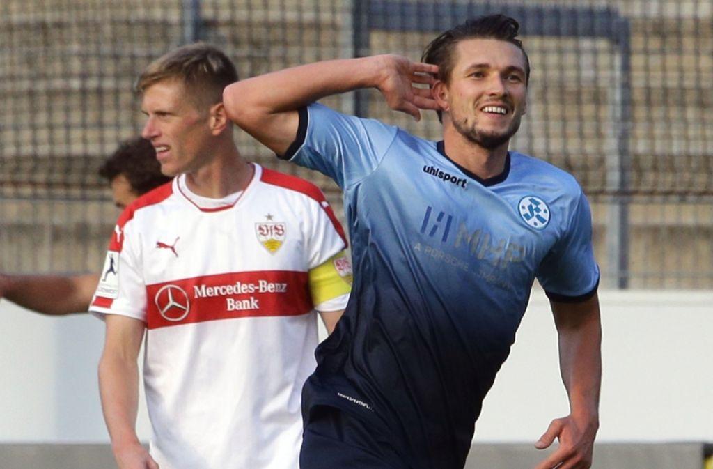 Kann in Pirmasens auf Torejagd gehen: Kickers-Stürmer Mijo Tunjic Foto: Baumann
