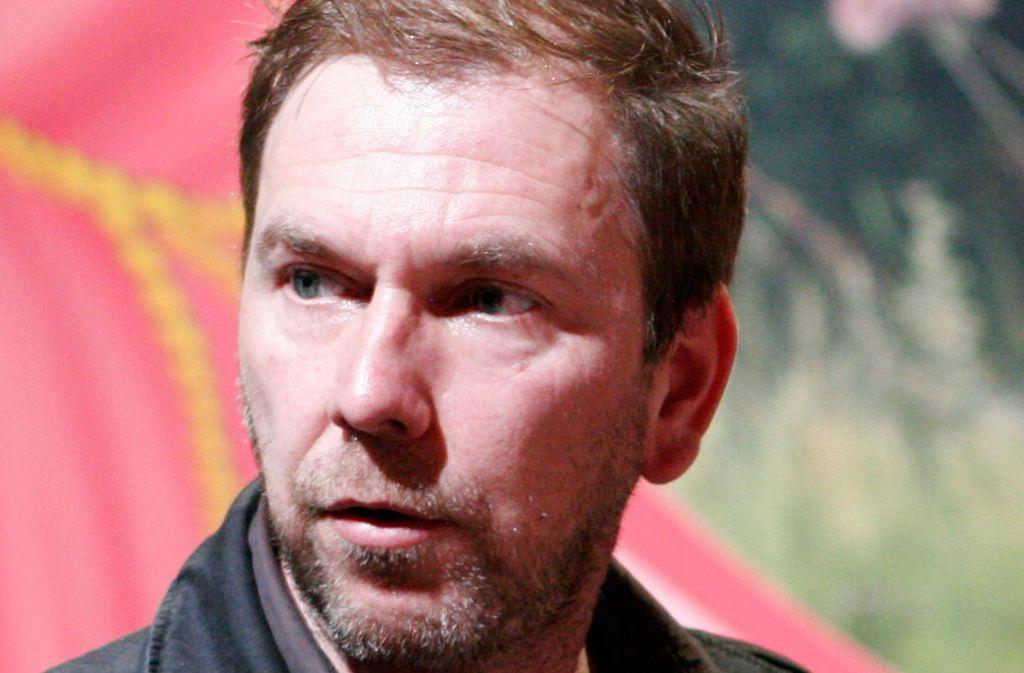 """René Pollesch bei Proben zu """"Liebe ist kälter als das Kapital"""" 2007 am Schauspiel Stuttgart Foto: David Graeter"""